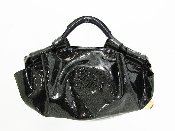 【中古】 【LOEWE ロエベ】 ナッパアイレ エナメルカーフ ハンドバッグ ハンドバッグ