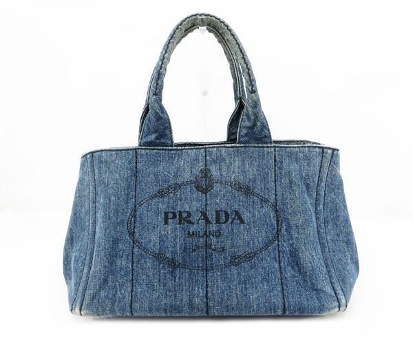【中古】 【PRADA プラダ】 カナパ デニムトート B1877B トートバッグ