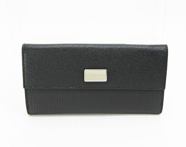 【中古】 【BVLGARI ブルガリ】 ミレリゲ 長財布 25556 財布 ブラック