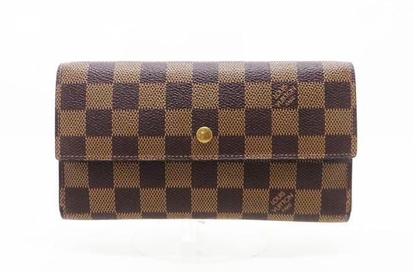 【中古】 【LOUIS VUITTON ルイ・ヴィトン】 3つ折り長財布 N61215 財布 ダミエ
