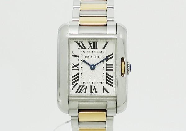【中古】 【Cartier カルティエ】 タンク アングレーズ SM W5310036 クォーツ腕時計