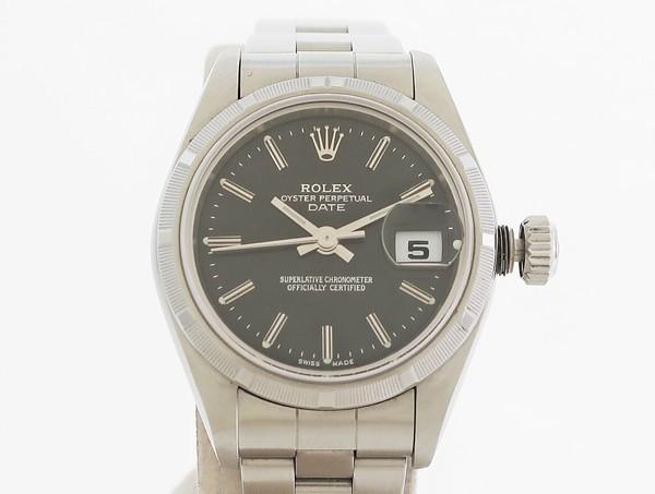 ☆【中古】 【ROLEX ロレックス】 オイスター パーペチュアル デイト レディース A番 79190 自動巻腕時計