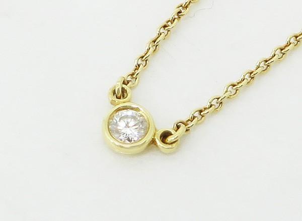 【中古】 【TIFFANY&Co. ティファニー】 K18 1Pダイヤモンド バイザヤードネックレス ネックレス