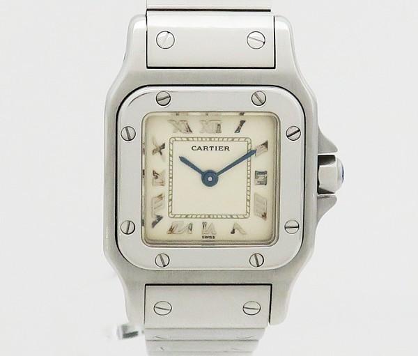 ☆【中古】 【Cartier カルティエ】 サントスガルベSM 旧バックル レディース腕時計 1565 腕時計