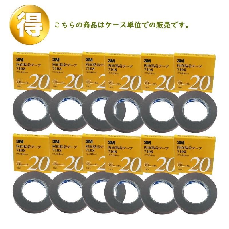 3M 両面粘着テープ 7108 20mm×10m 1ケース(12箱入) [7108 20 AAD][取寄]