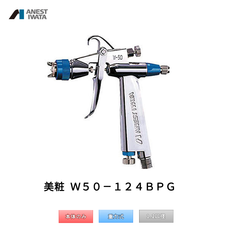 アネスト岩田 美粧 超小型スポット補修用スプレーガン 重力式 W50-124BPG 本体のみ