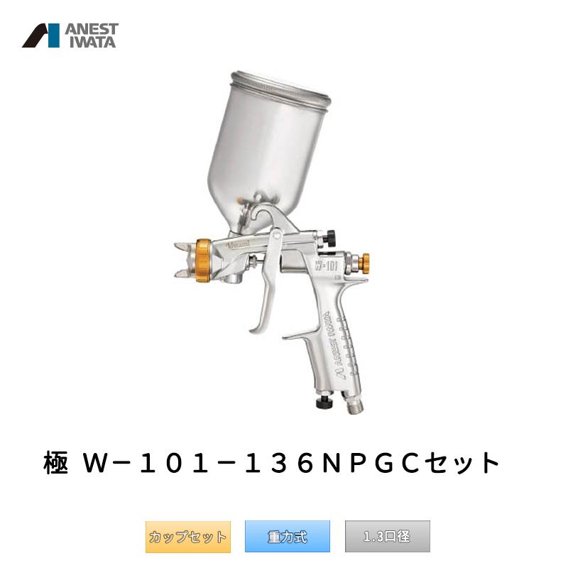 アネスト岩田 極み KIWAMI 日本ペイントモデル 重力式 W-101-136NPGC カップセット 「取寄」