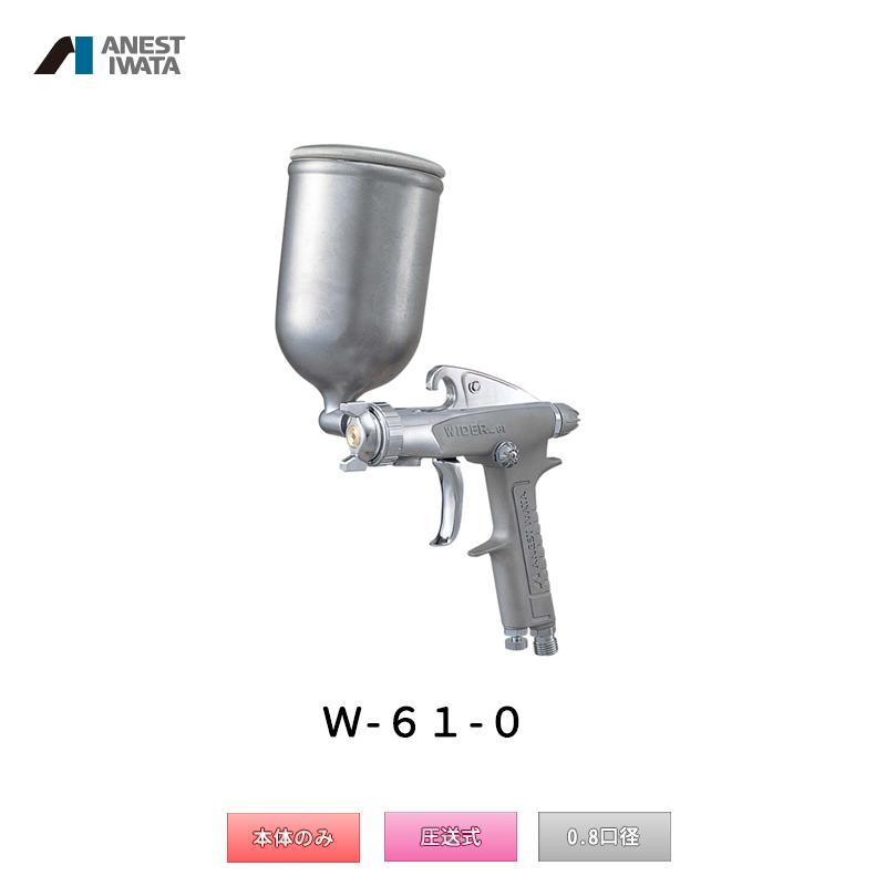 アネスト岩田 小形スプレーガン 圧送式 W-61-0 本体のみ 「取寄」