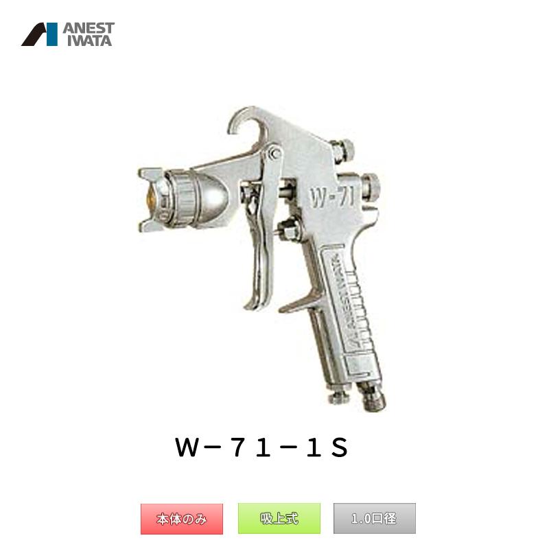 アネスト岩田 小形スプレーガン 吸上式 W-71-1S 本体のみ 「取寄」