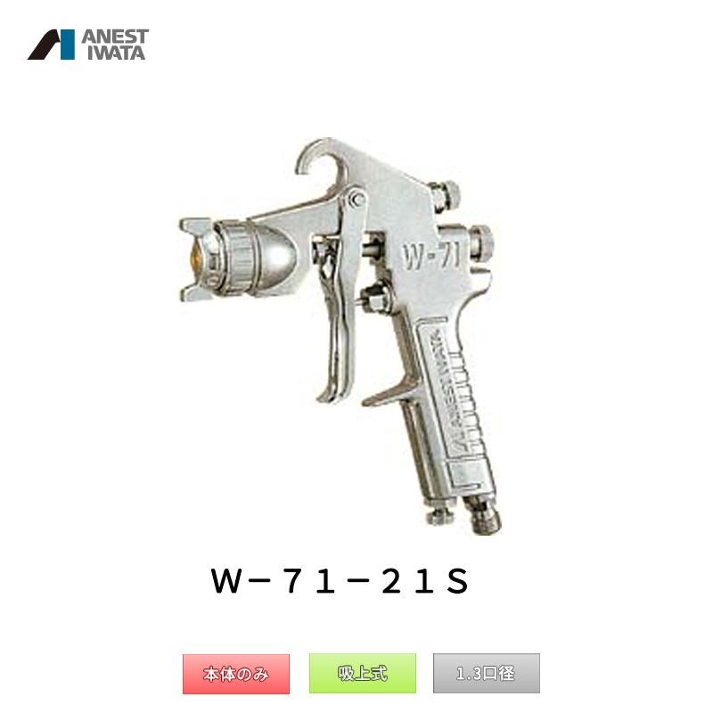 アネスト岩田 小形スプレーガン 吸上式 W-71-21S 本体のみ 「取寄」