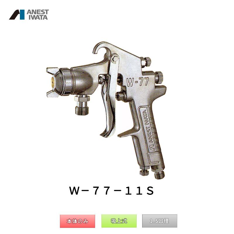 アネスト岩田 中形スプレーガン 吸上式 W-77-11S 本体のみ 「取寄」