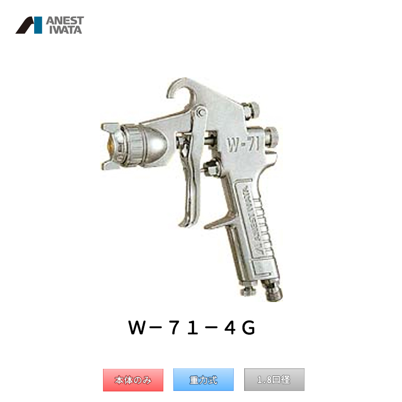 アネスト岩田 小形スプレーガン 重力式 W-71-4G 本体のみ 「取寄」