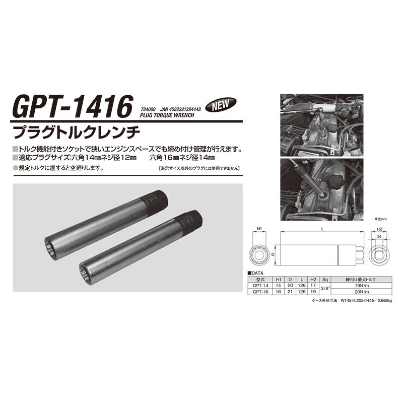 江東産業 GPT-1416 プラグトルクレンチ [取寄]