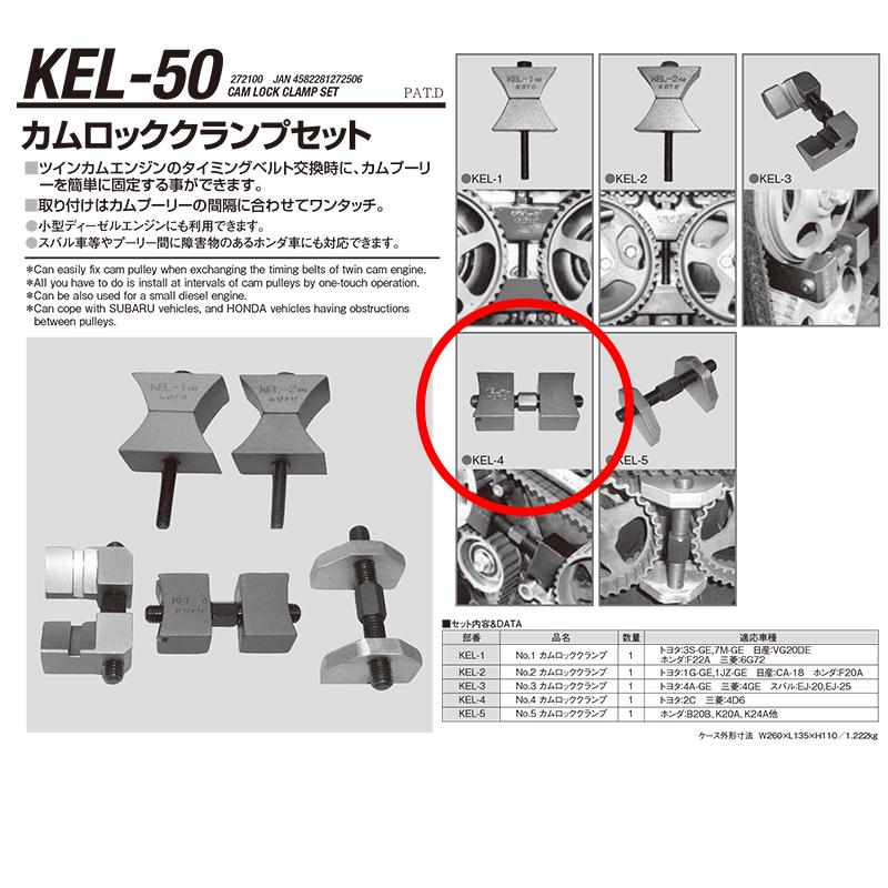 江東産業 KEL-4 No.4カムロッククランプ [取寄]