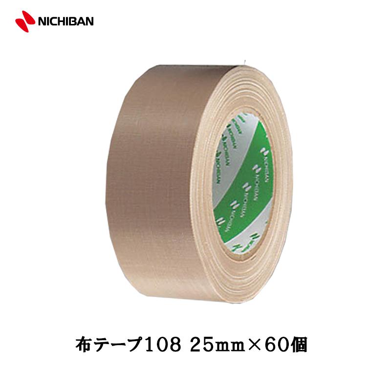 [大型配送品] ニチバン 養生用布粘着テープ No.108 25mm×25m 1ケース(60個入)[取寄]