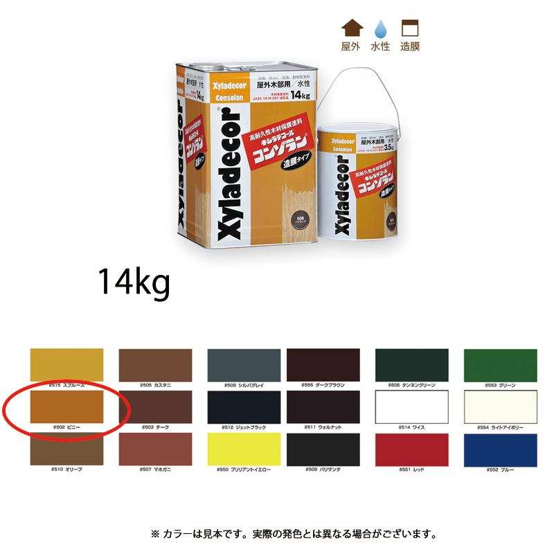 [個別送料] 大阪ガスケミカル キシラデコールコンゾラン #502 ビニー 14kg [取寄]