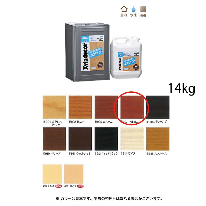 [個別送料] 大阪ガスケミカル キシラデコールインテリアファイン #907 マホガニ 14kg [取寄]
