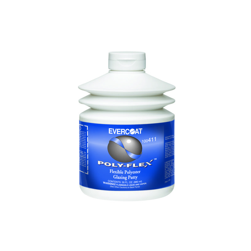 [メーカー直送 代引不可] evercoat ポリフレックス プラスチック用パテ Ec-Pf 880ml 6個セット 硬化剤(小)付属