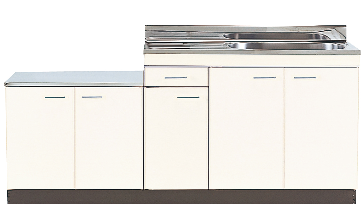 NISSAN-HELLO 公団 流し台 大型ゴミ収納器付き 公団型 キッチン 間口1800mm 奥行550mm 高さ800mm 立上90mm N55-180G ニッサンハロー