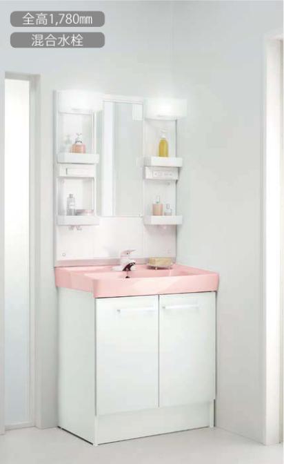 LIXIL INAX 洗面化粧台 オフト 化粧台本体:シングルレバー混合水栓 間口750mm ミラーキャビネット:一面鏡 LED照明 FTV1N-754 MFTX1-751YFJ oft リクシル イナックス