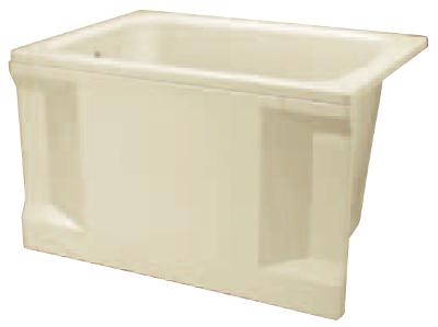 JFE FRP浴槽 1方全エプロン 据置タイプ 間口1000mm 奥行700mm 高さ645mm FRPバスタブ 据え置き KFP100