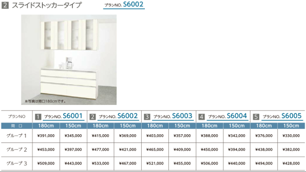 LIXIL 間仕切型サービスカウンター シエラ グループ1 No.S6002 間口1500 (スライドストッカータイプ) 収納ユニット Shiera リクシル サンウェーブ