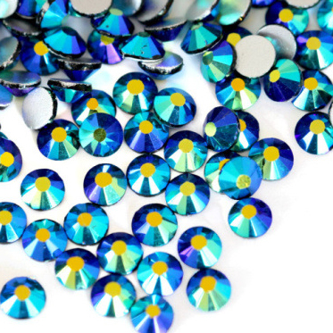 スワロフスキー同等の美しさ☆ ネイル ハンドメイド製作にいつも以上の輝きを 未使用品 実物 ガラス製ラインストーンジェットABスワロフスキーと変わらない驚きの輝き☆ 超高級