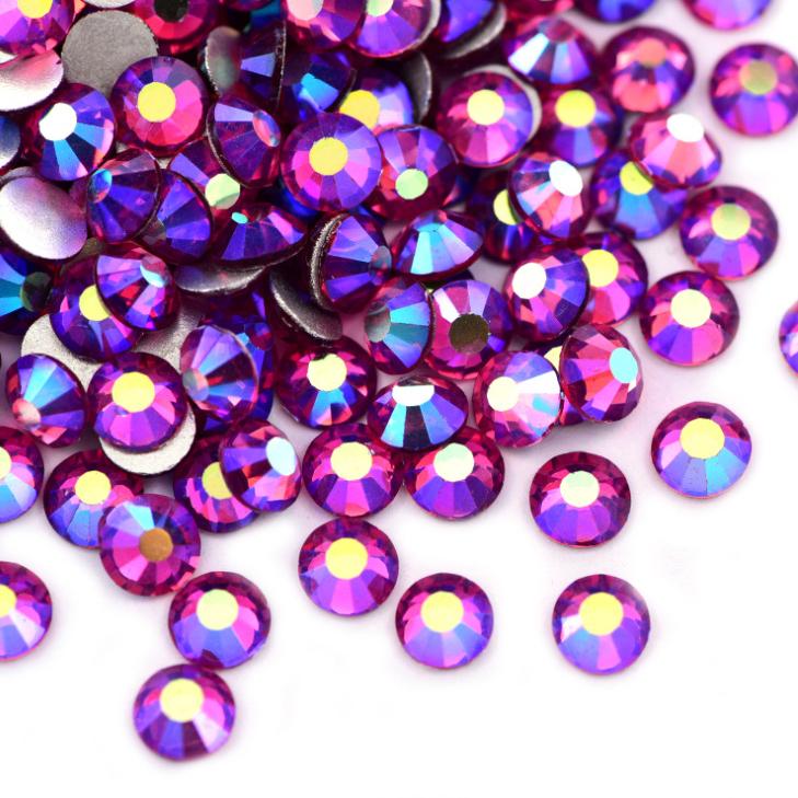 スワロフスキー同等の美しさ☆ 2020A W新作送料無料 トラスト ネイル ハンドメイド製作にいつも以上の輝きを 超高級 ガラス製ラインストーンローズABスワロフスキーと変わらない驚きの輝き☆