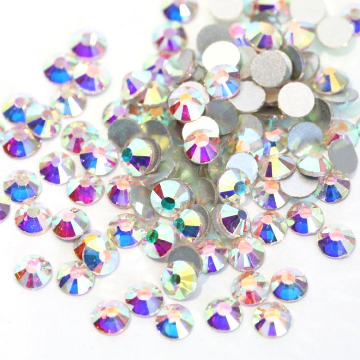 【納期4週間程度】卸専用ガラスラインストーン オーロラクリスタル SS3~SS20サイズ選択可 約14400粒