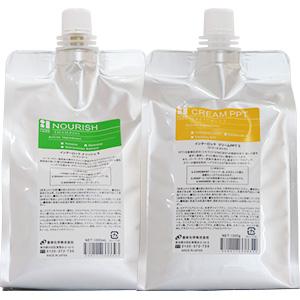 香栄化学 インターロック ヘアケア シャンプー&トリートメント セット / 1000mLリフィル + 1000gリフィル