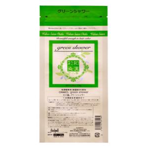 和漢植物末配合のノンアルカリカラー剤 5%OFF グランデックス 1年保証 和漢彩染 十八番 パウダー グリーンシャワー メール便 対応 120g ヘアカラー ノンアルカリ