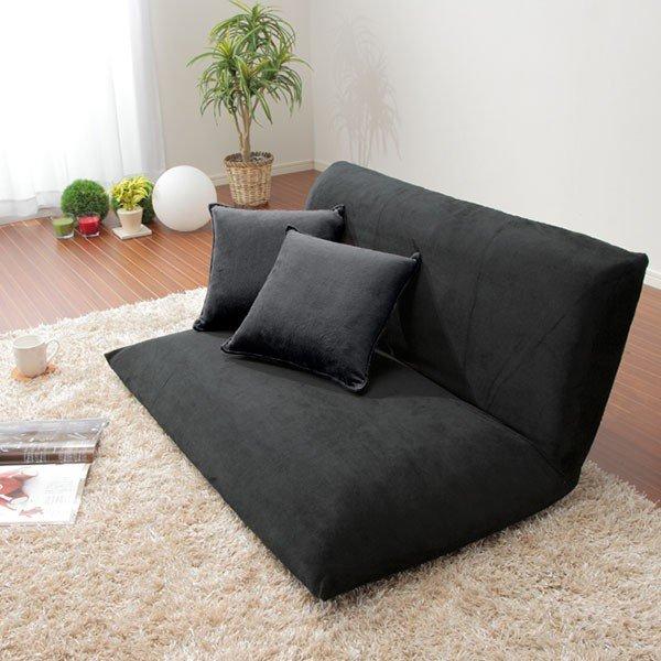 座椅子 二人掛け 肘なし ローソファ 2人掛けソファ ソファー ラブソファ リベラ フロアソファ 幅100 完成品 日本製