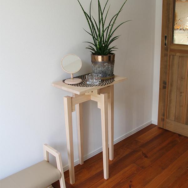 コンソールテーブル 玄関 スリム 北欧 モダン サイドテーブル コンパクト 飾り棚 シンプル ブラウン ナチュラル