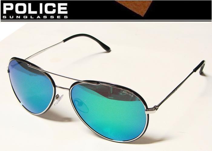 POLICE(警察)太陽眼鏡NEYMAR JR 2014年內馬爾型號S8299M K07C多層綠色鏡子正規的物品derigojapan