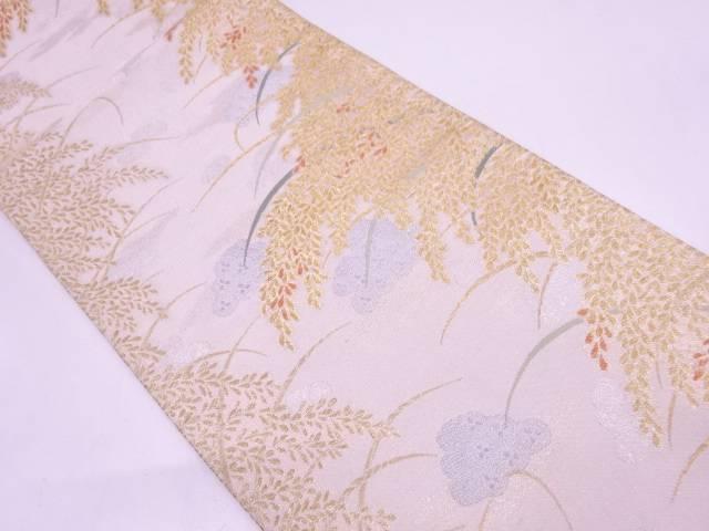 【セール30%オフ】リサイクル 稲穂に俵模様織出し袋帯【送料無料】