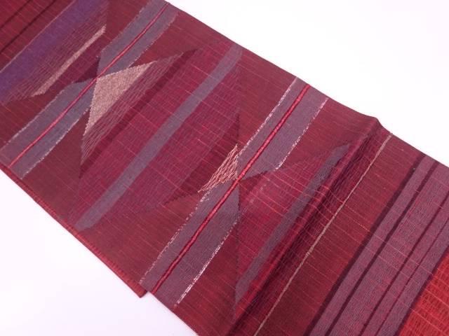 リサイクル 未使用品 すくい織抽象模様織出し袋帯【送料無料】