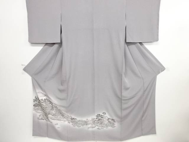 新品 仕立て上がり 水辺に樹木風景模様一つ紋色留袖【送料無料】