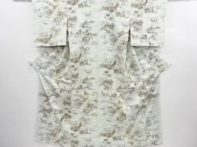 未使用品 仕立て上がり 京都三大祭模様小紋着物【送料無料】