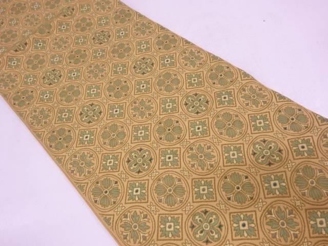 【セール30%オフ】リサイクル 川島織物製 花模様織出し袋帯【送料無料】