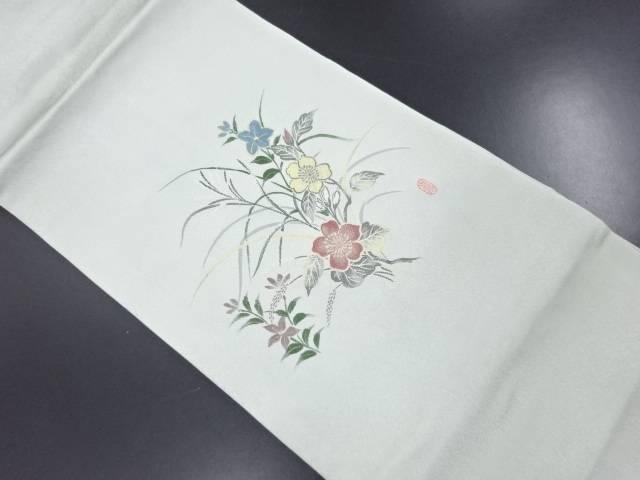 【セール30%オフ】リサイクル 未使用品 寿光織草花模様織り出し名古屋帯【送料無料】