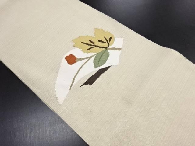 リサイクル 綴れ枝蕾模様織り出し名古屋帯【送料無料】