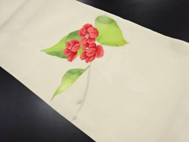 リサイクル 紗花模様織り出し開き名古屋帯(額縁仕立て)【送料無料】