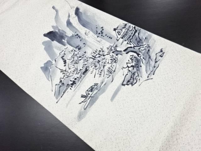 リサイクル 作家物 手描き時代風景模様袋帯【送料無料】