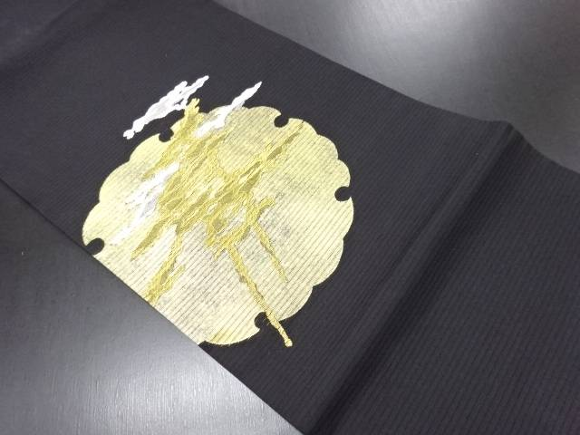 リサイクル 絽雪輪に松模様織り出し名古屋帯【送料無料】
