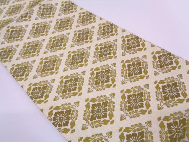 リサイクル 唐織襷に草花模様織出し袋帯【送料無料】