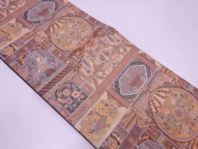 リサイクル 未使用品 AB 橋本織物製 ペルシャ王朝文織出し袋帯(未仕立て)【送料無料】
