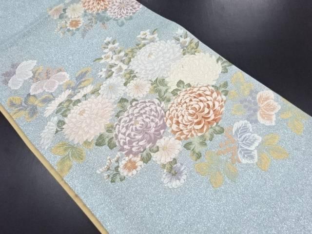 【セール30%オフ】リサイクル 金銀糸 桐菊模様織り出し袋帯【送料無料】