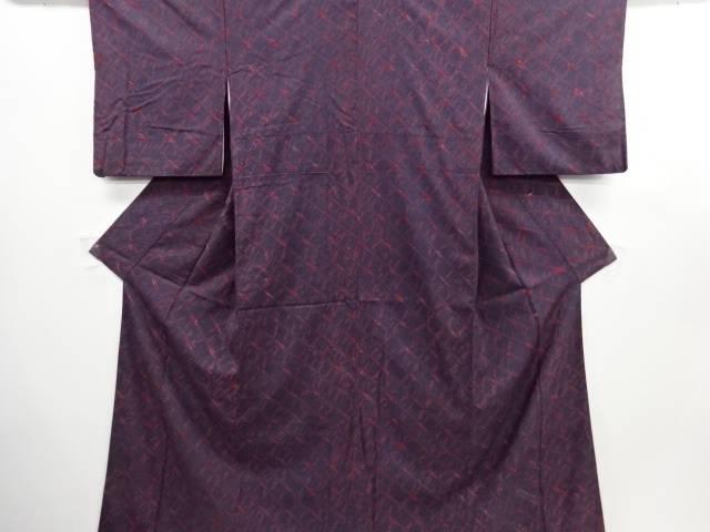 リサイクル 草木染本絞り手織り真綿紬着物【送料無料】