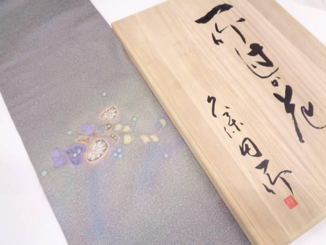 リサイクル 久保田一竹 辻が花袋帯(額縁仕立て)【送料無料】