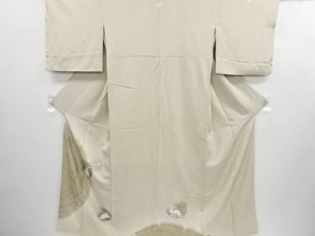 リサイクル 金彩波兎模様五つ紋色留袖【送料無料】